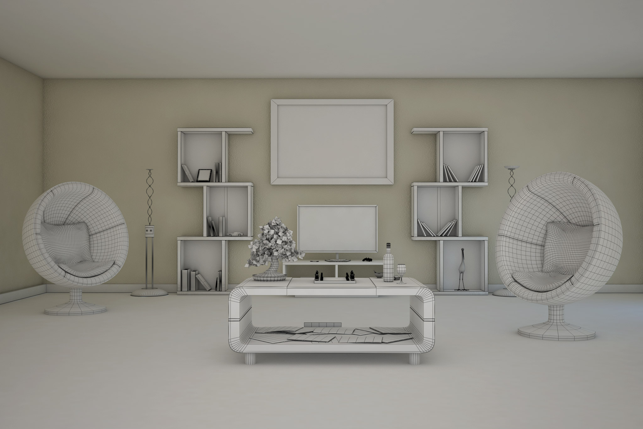 Salon 3D Filaire